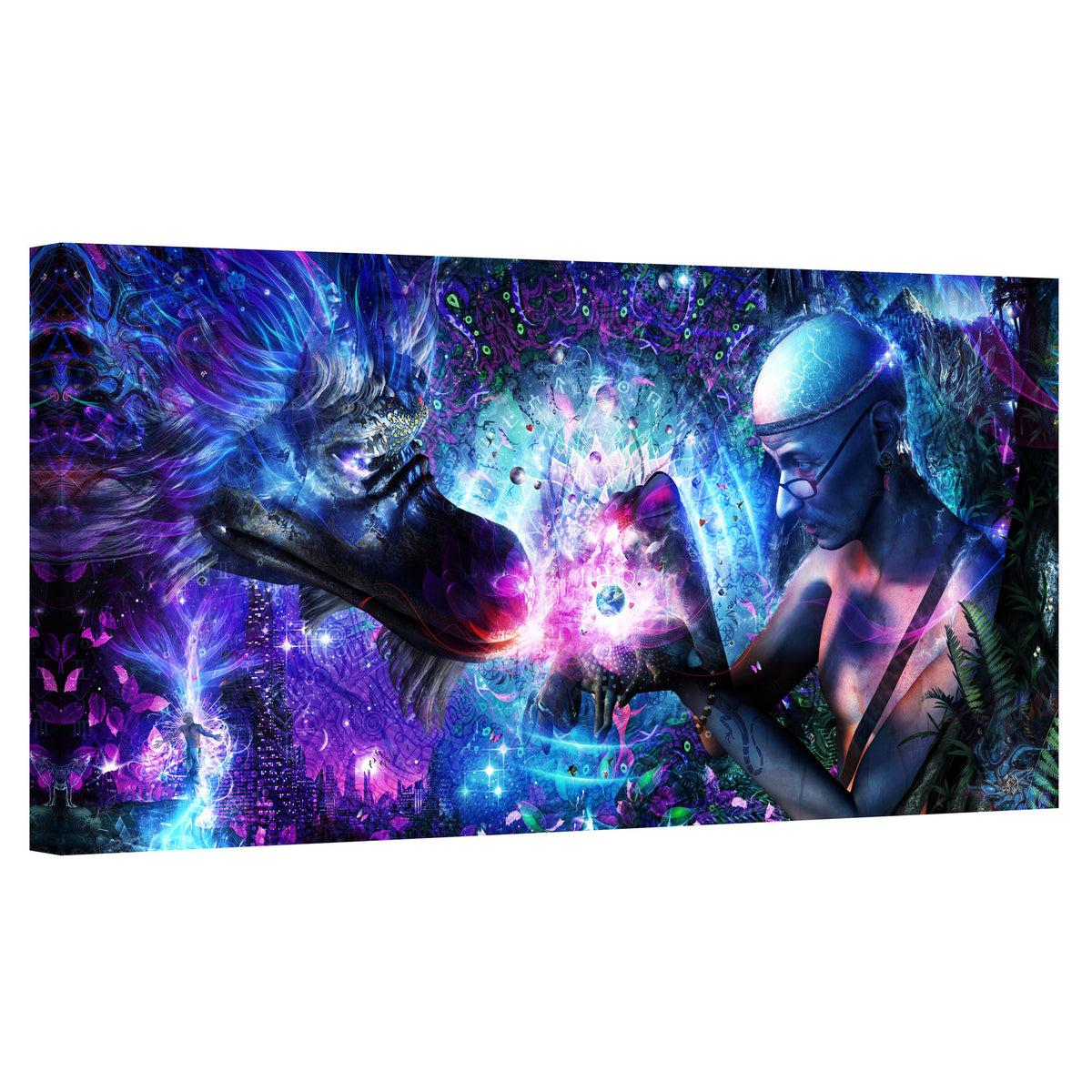 "Epic Graffiti ""A Spirit's Silent Cry"" by Cameron Gray, Giclee Canvas Wall Art"