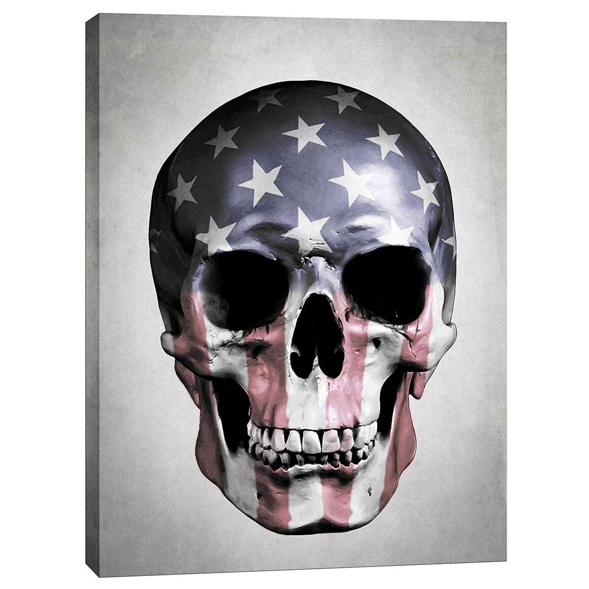 Cortesi Home 'American Skull-Grey' by Nicklas Gustafsson, Canvas Wall Art