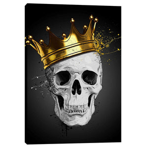 "Cortesi Home ""Royal Skull"" by Nicklas Gustafsson, Giclee Canvas Wall Art"