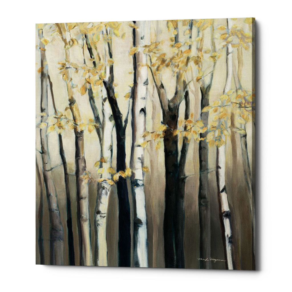 "Epic Graffiti ""Golden Birch I"" by Marilyn Hageman, Giclee Canvas Wall Art"