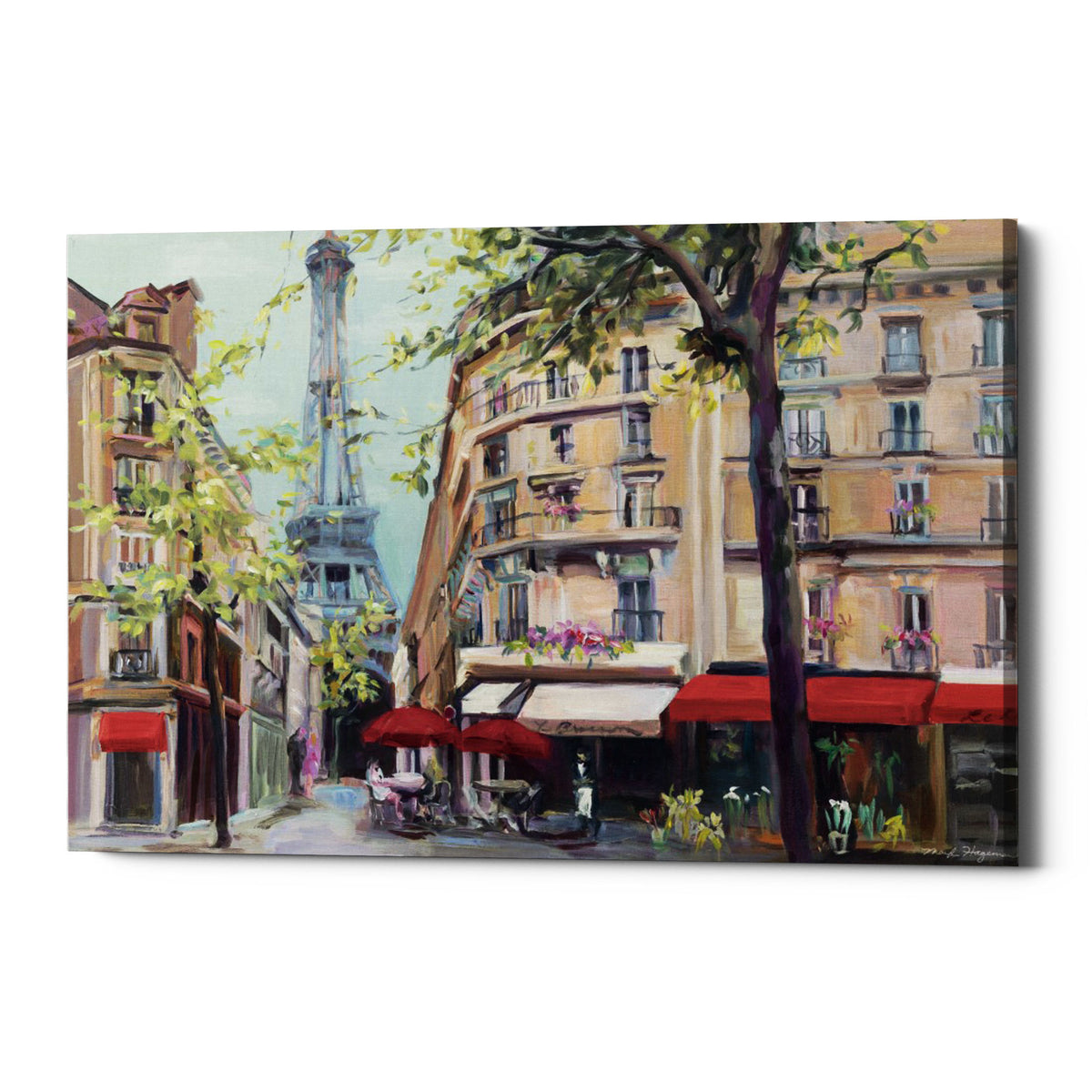 "Epic Graffiti ""Springtime in Paris"" by Marilyn Hageman, Giclee Canvas Wall Art"