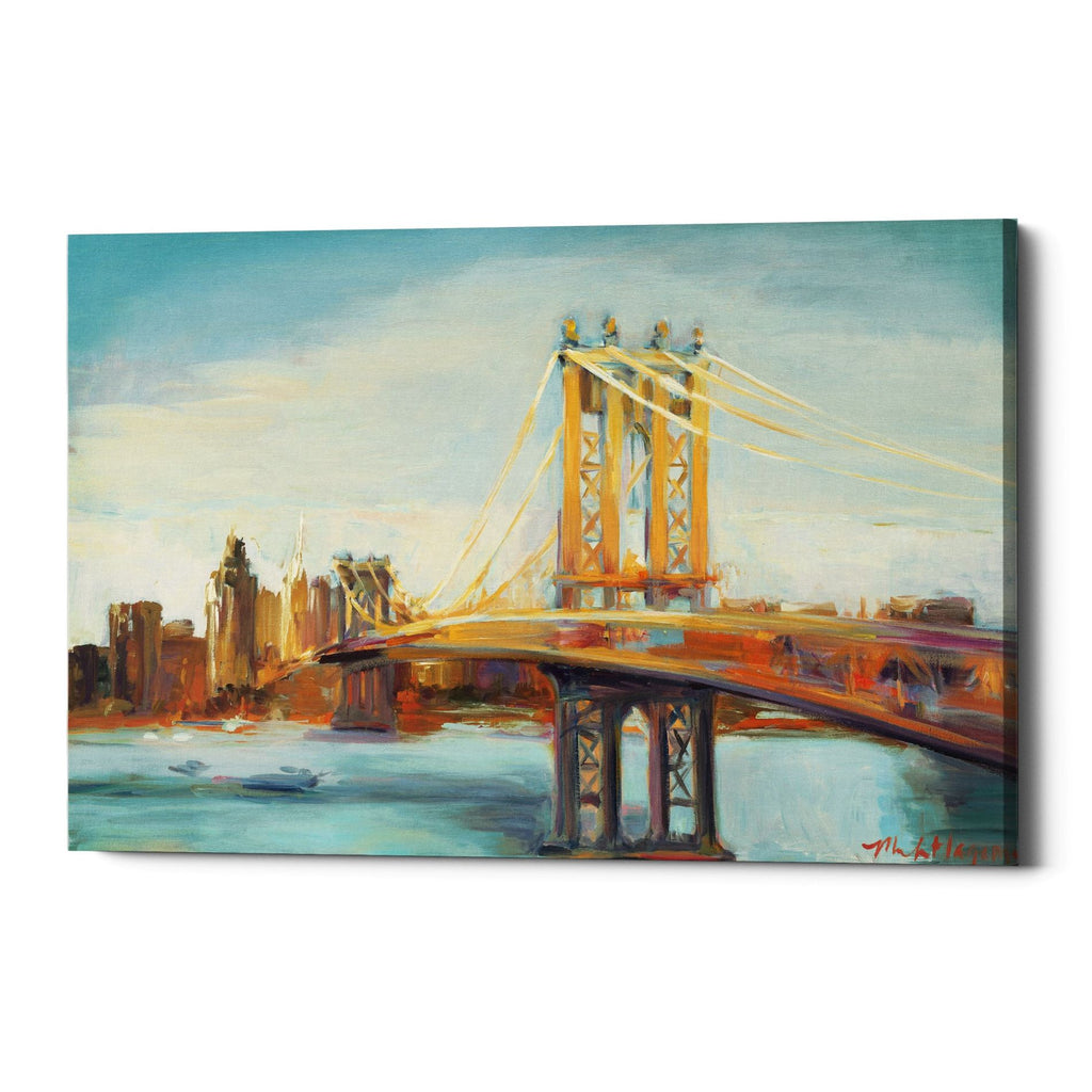 "Epic Graffiti ""Sunny Manhattan Bridge"" by Marilyn Hageman, Giclee Canvas Wall Art"