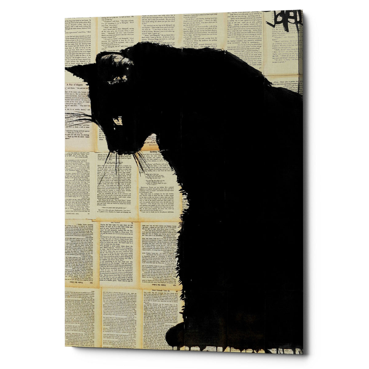 "Epic Graffiti ""Cat Black"" by Loui Jover, Giclee Canvas Wall Art"