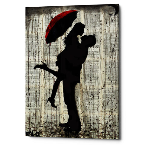 "Epic Graffiti ""Love and Rain"" by Loui Jover, Giclee Canvas Wall Art"