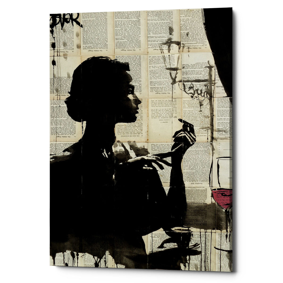 "Epic Graffiti ""Lush Life"" by Loui Jover, Giclee Canvas Wall Art"