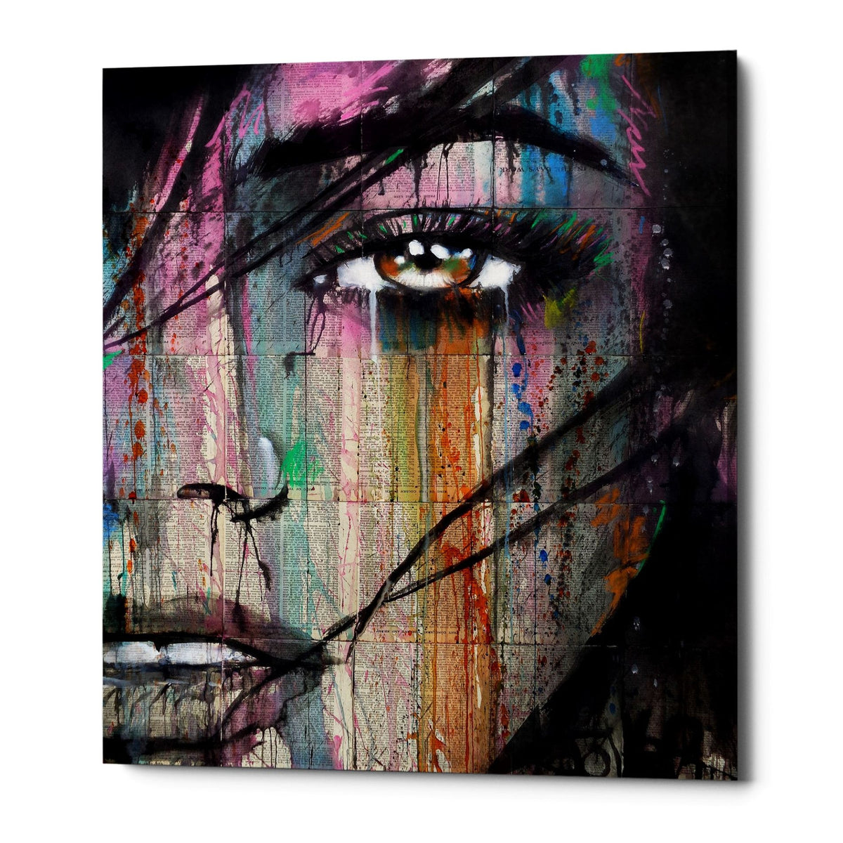 "Epic Graffiti ""Merge"" by Loui Jover, Giclee Canvas Wall Art"