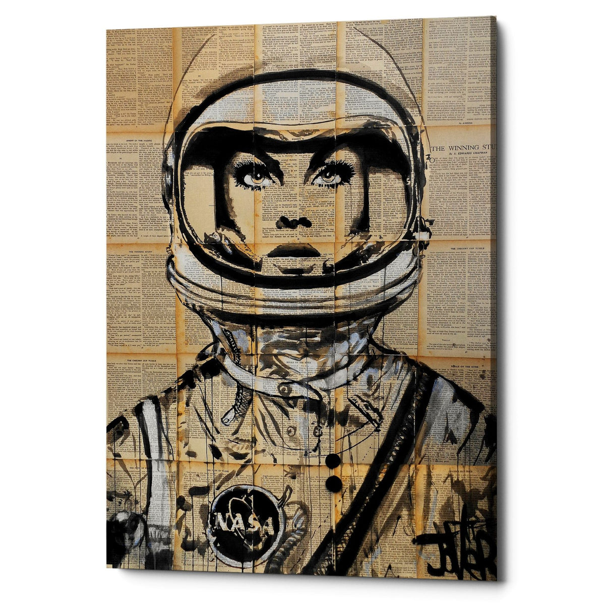 "Epic Graffiti ""Orbit"" by Loui Jover, Giclee Canvas Wall Art"