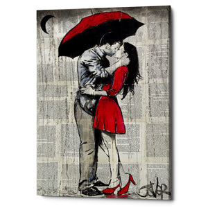"Epic Graffiti ""Red Rainy Love"" by Loui Jover, Giclee Canvas Wall Art"