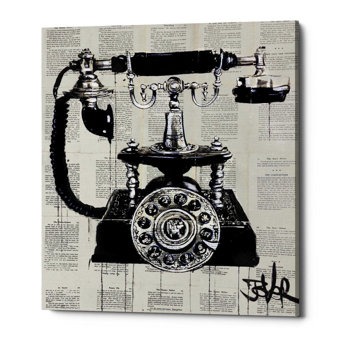 "Epic Graffiti ""Ring Ring"" by Loui Jover, Giclee Canvas Wall Art"
