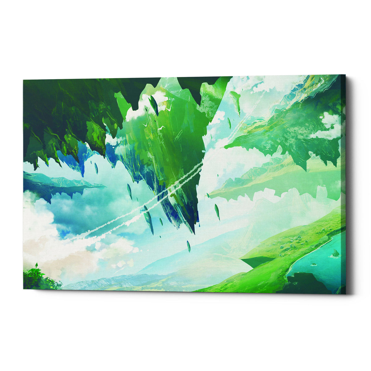 "Epic Graffiti ""Floating Island"" by Jonathan Lam, Giclee Canvas Wall Art"