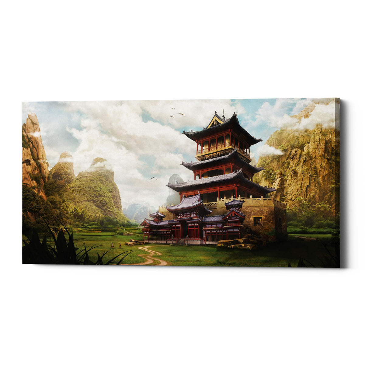 "Epic Graffiti ""Hidden Temple"" by Jonathan Lam, Giclee Canvas Wall Art"