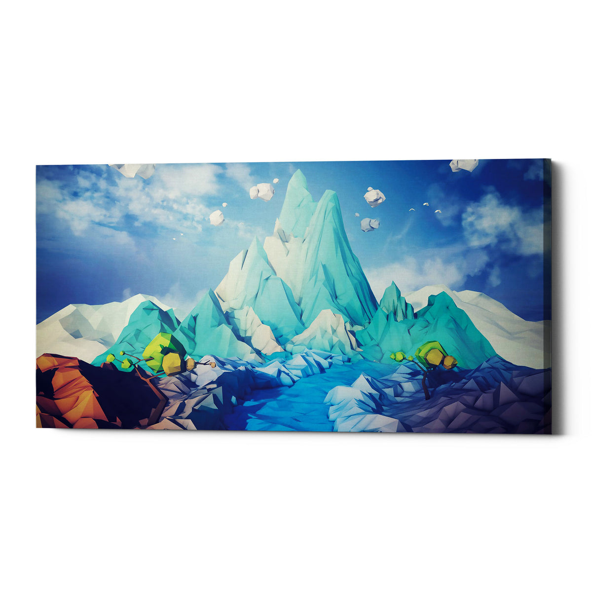 "Epic Graffiti ""Lonely Mountain"" by Jonathan Lam, Giclee Canvas Wall Art"