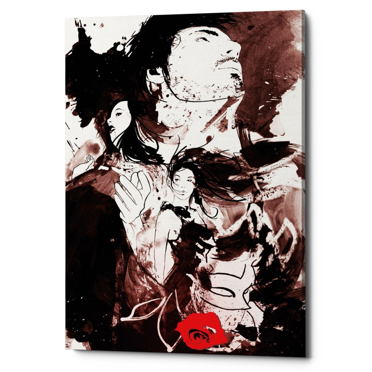 "Epic Graffiti ""Romance Revenge Revolution"" by Jonathan Lam, Giclee Canvas Wall Art"