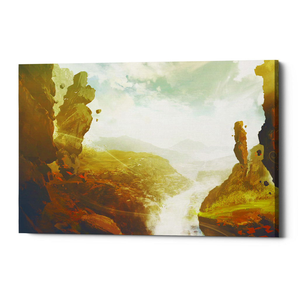 "Epic Graffiti ""Sacred Valley"" by Jonathan Lam, Giclee Canvas Wall Art"