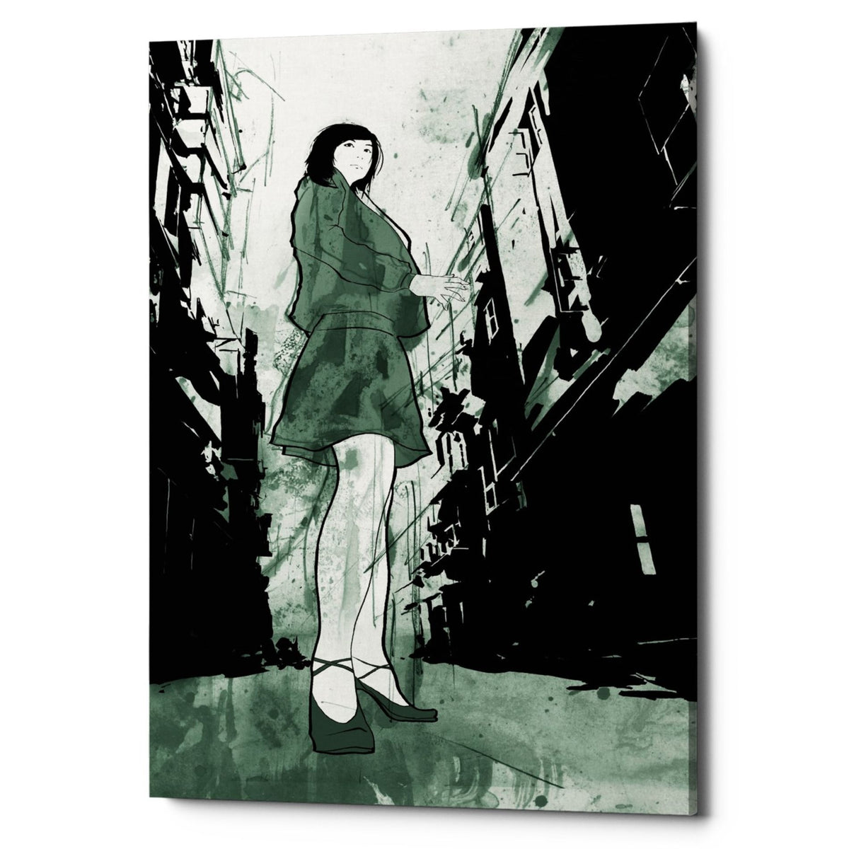 "Epic Graffiti ""Stray"" by Jonathan Lam, Giclee Canvas Wall Art"