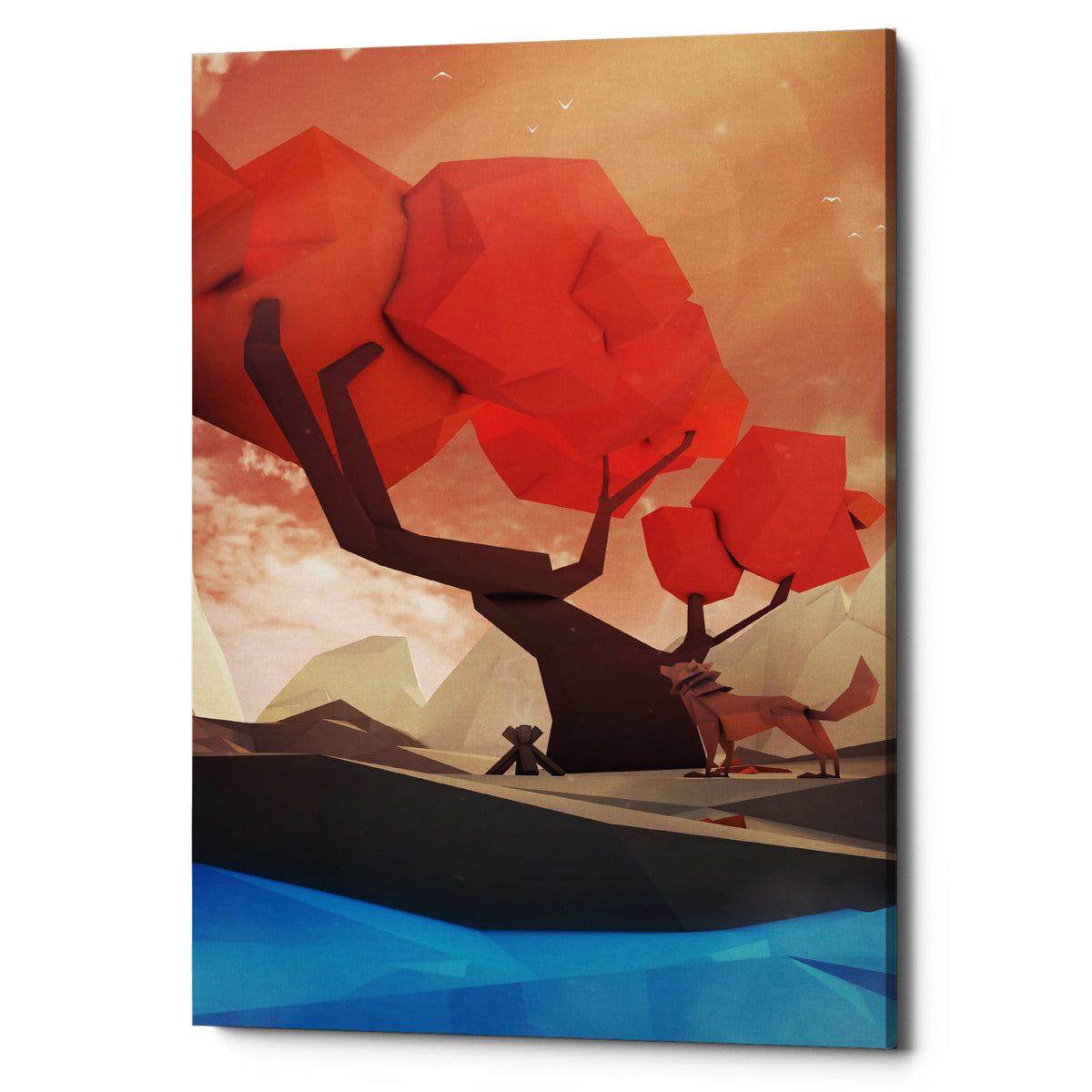 "Epic Graffiti ""The Red Tree"" by Jonathan Lam, Giclee Canvas Wall Art"