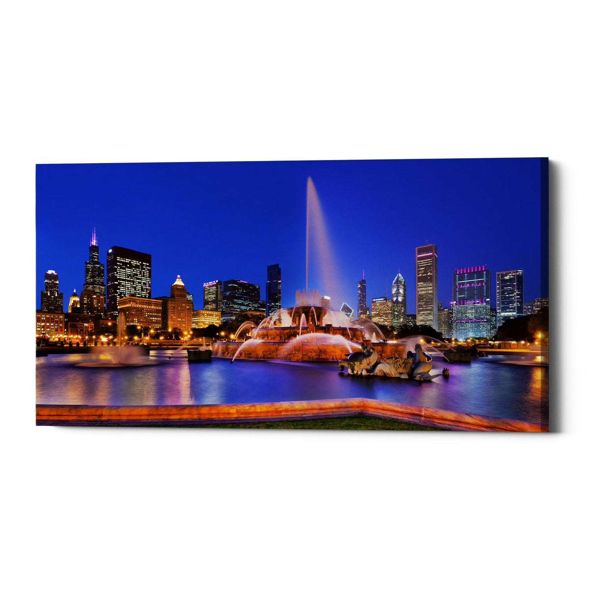 "Epic Graffiti ""Buckingham Fountain Pano,"" Giclee Canvas Wall Art"