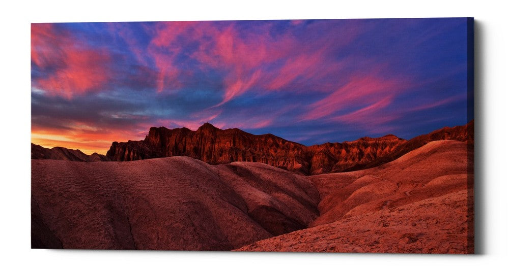 "Epic Graffiti ""Ruby Sunset,"" Giclee Canvas Wall Art"