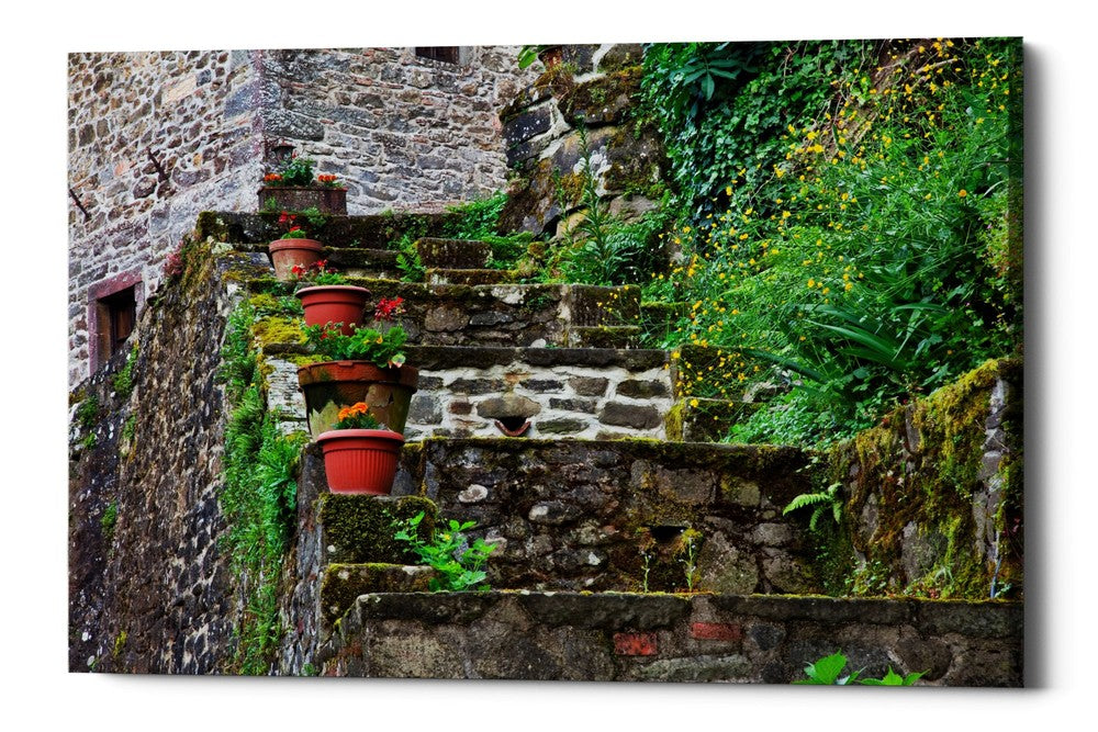 "Epic Graffiti ""Stone Steps,"" Giclee Canvas Wall Art"