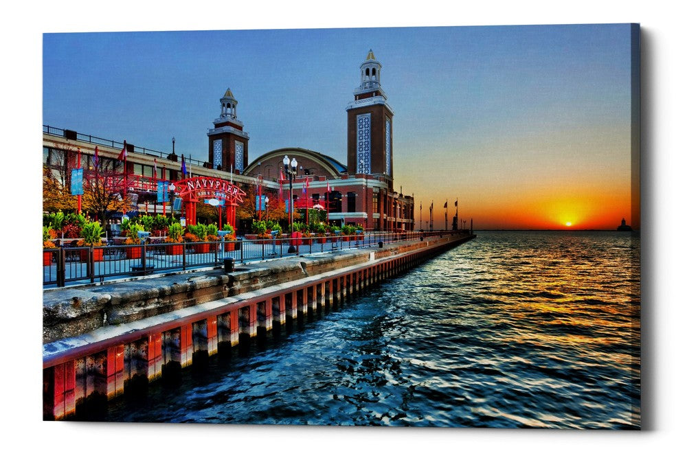"Epic Graffiti ""Sunrise at the Pier,"" Giclee Canvas Wall Art"