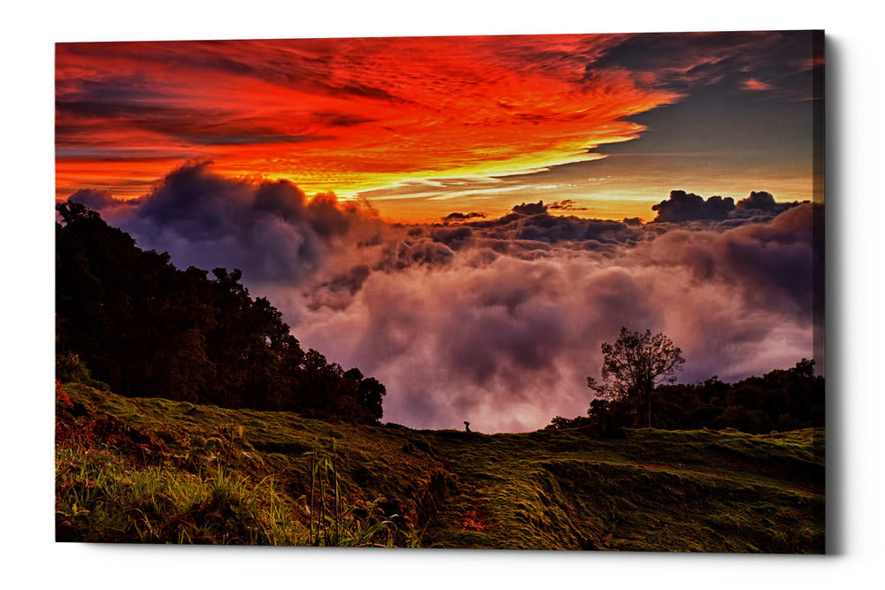 "Epic Graffiti ""Valley Clouds at Sunset,"" Giclee Canvas Wall Art"
