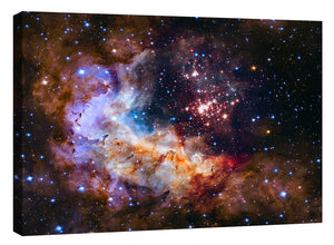 "Epic Graffiti ""Celestial Fireworks"" Hubble Space Telescope Giclee Canvas Wall Art"