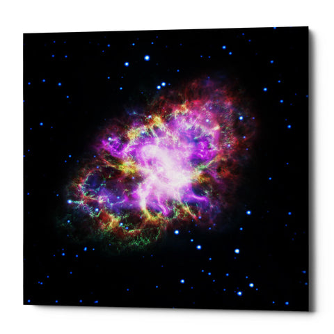 "Epic Graffiti ""Crab Nebula Multi-Wavelengths"" Hubble Space Telescope Giclee Canvas Wall Art"