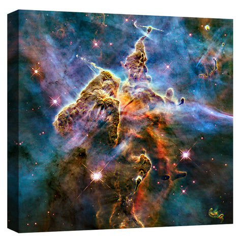 "Epic Graffiti ""Mystic Mountain"" Hubble Space Telescope Giclee Canvas Wall Art"
