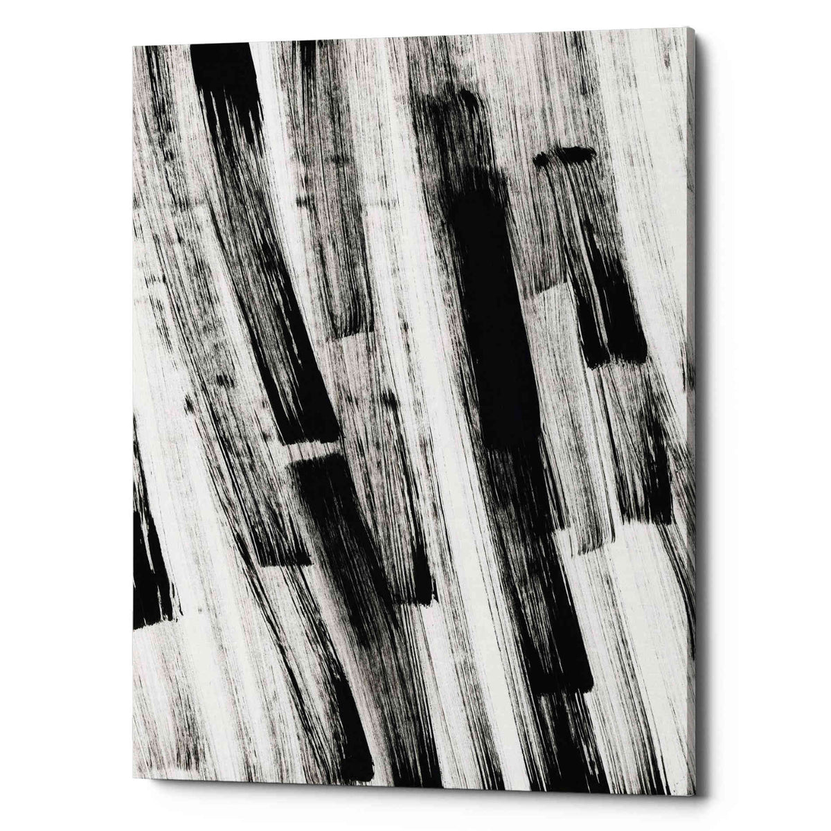 Epic Graffiti 'Black and White Strokes South' Giclee Canvas Wall Art