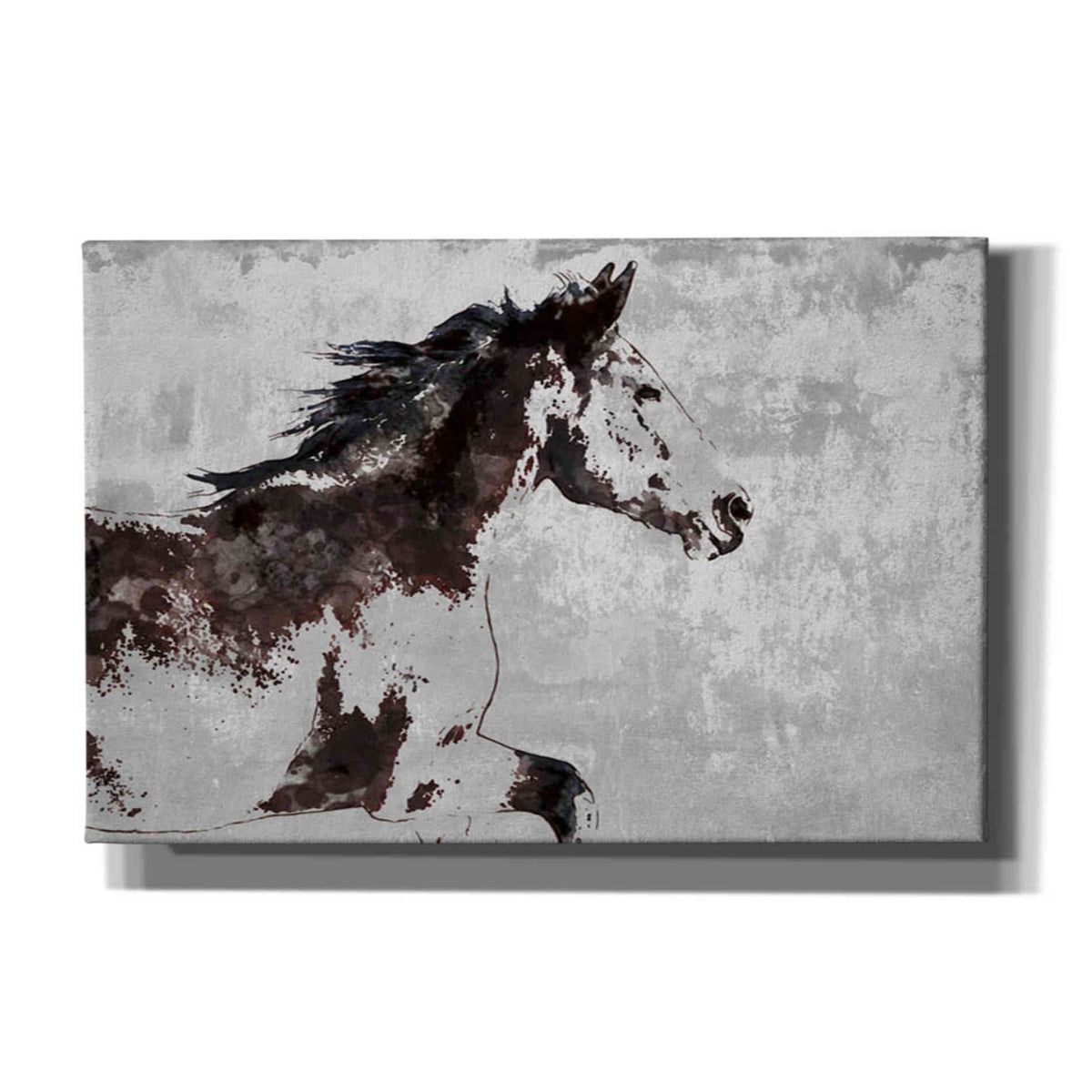 Epic Graffiti 'Horse Race' by Irena Orlov, Giclee Canvas Wall Art