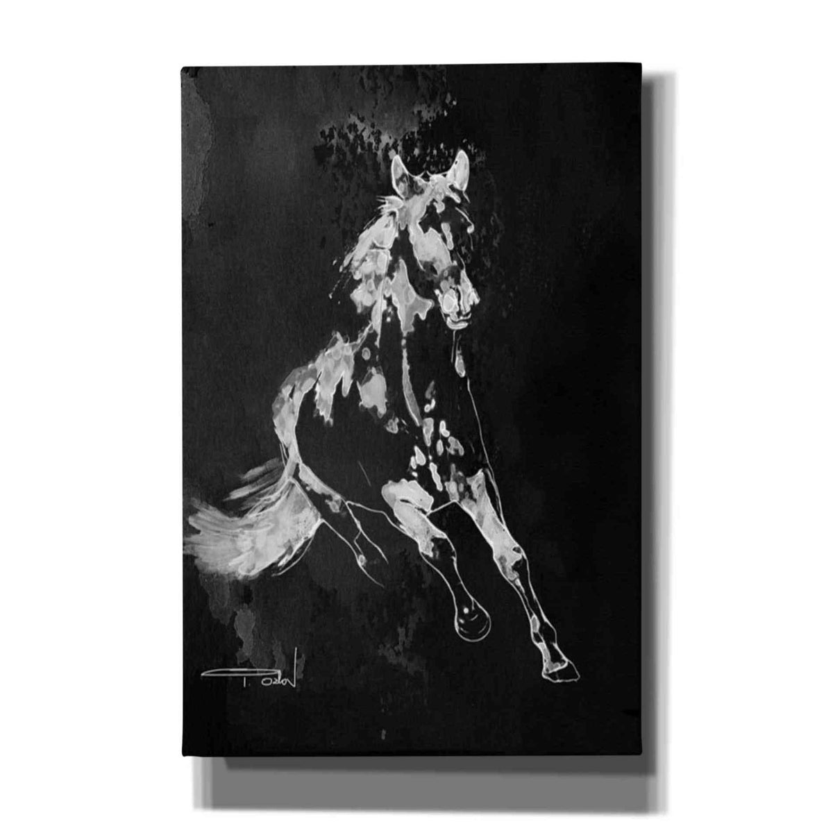 Epic Graffiti 'Wild Running Horse 2' by Irena Orlov, Giclee Canvas Wall Art
