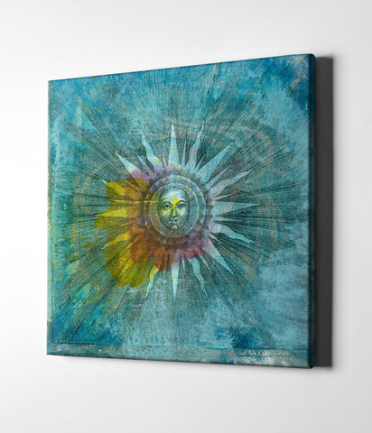 "Epic Graffiti ""Ancient Sun"" by Elena Ray Giclee Canvas Wall Art"