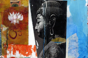 "Epic Graffiti ""Angel Buddha"" by Elena Ray Giclee Canvas Wall Art"