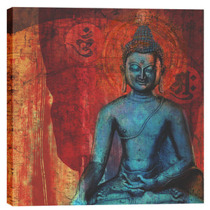 "Epic Graffiti ""Blue Buddha"" by Elena Ray Giclee Canvas Wall Art"