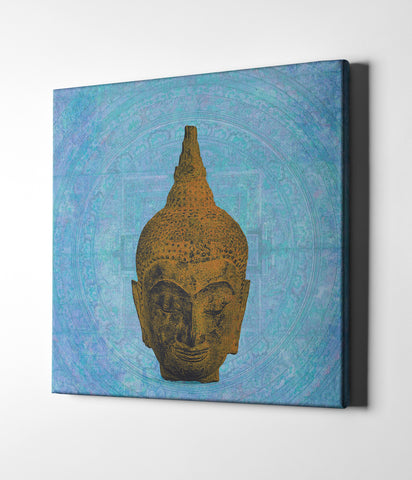 "Epic Graffiti ""Buddha on Blue"" by Elena Ray Giclee Canvas Wall Art"