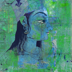 "Epic Graffiti ""Classic Krishna"" by Elena Ray Giclee Canvas Wall Art"