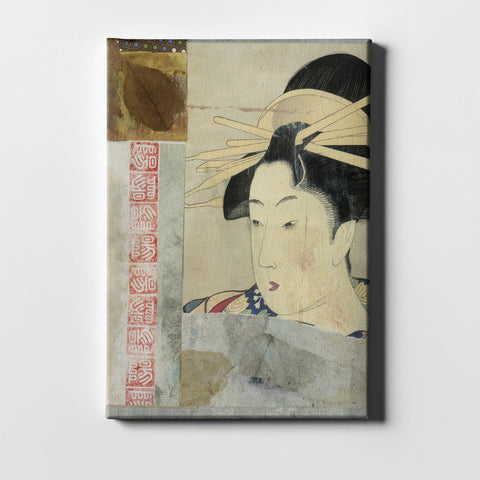 "Epic Graffiti ""Geisha"" by Elena Ray Giclee Canvas Wall Art"