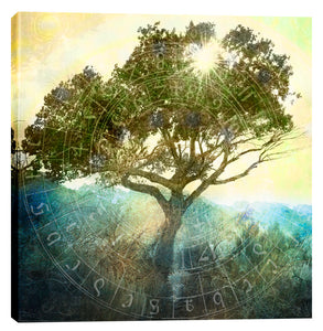 "Epic Graffiti ""Tree And Sun""  by Elena Ray Giclee Canvas Wall Art"