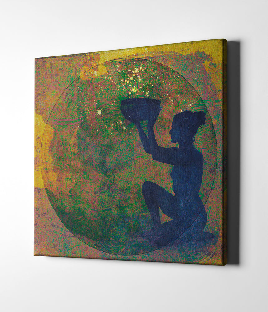 "Epic Graffiti ""Vessel of Cosmic Creativity"" by Elena Ray Giclee Canvas Wall Art"