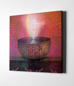 "Epic Graffiti ""Vessel of Light"" by Elena Ray Giclee Canvas Wall Art"