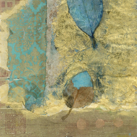 "Epic Graffiti ""Wabi-Sabi Leaf"" by Elena Ray Giclee Canvas Wall Art"