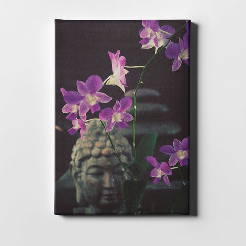 "Epic Graffiti ""Zen Purple Orchids"" by Elena Ray Giclee Canvas Wall Art"