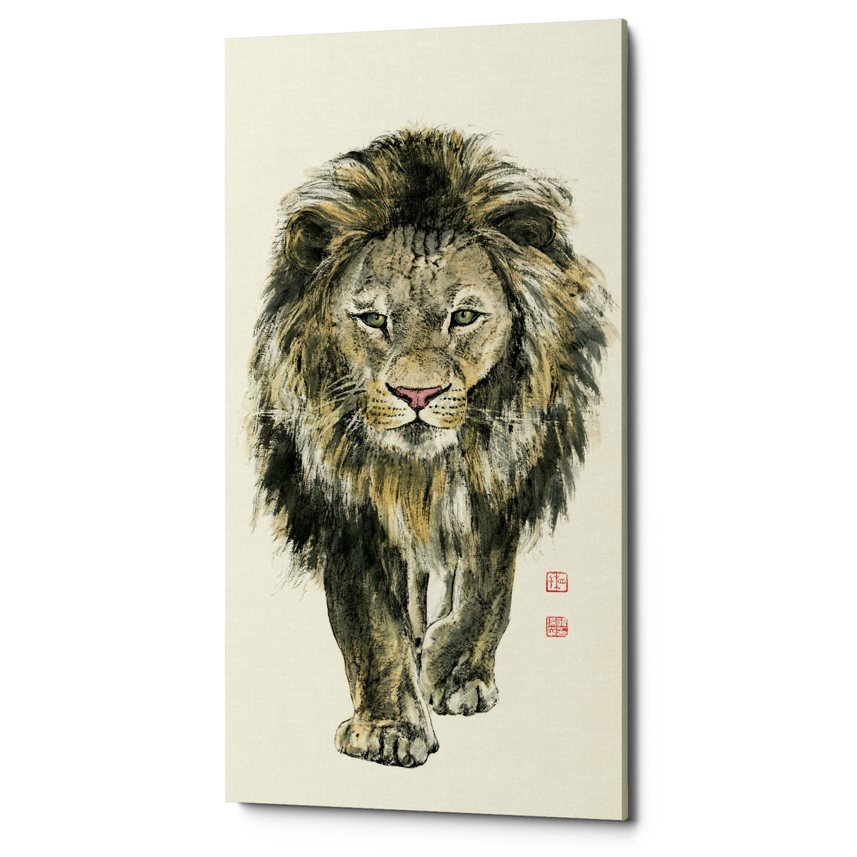 "Epic Graffiti ""Majestic King of the Jungle"" by River Han, Giclee Canvas Wall Art"