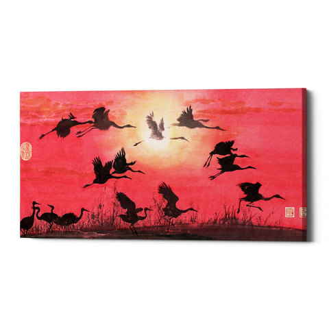 "Epic Graffiti ""Siege of Cranes"" by River Han, Giclee Canvas Wall Art"