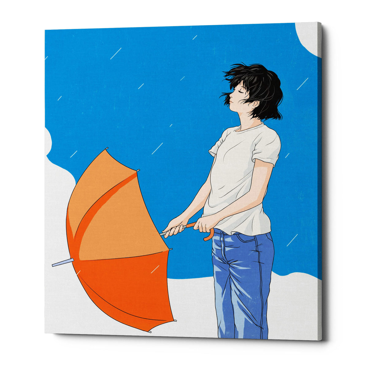 "Epic Graffiti ""After the Rain"" by Sai Tamiya, Giclee Canvas Wall Art"