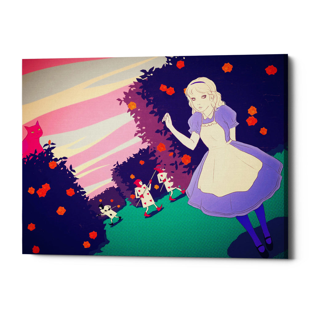 "Epic Graffiti ""Alice in Rose Garden"" by Sai Tamiya, Giclee Canvas Wall Art"