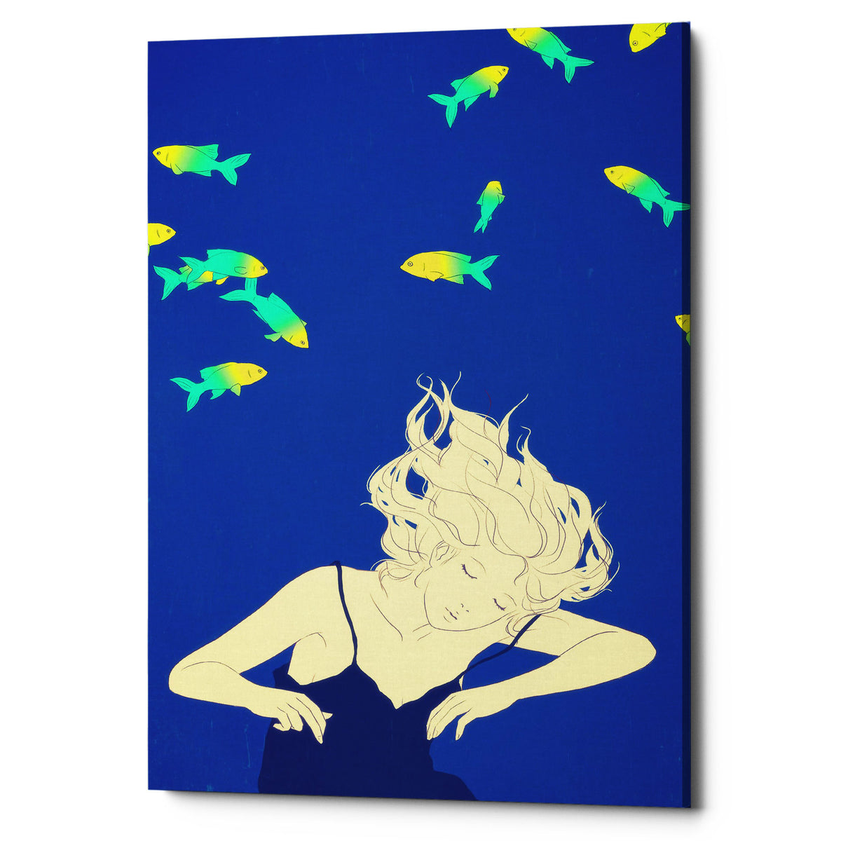 "Epic Graffiti ""Deep Blue"" by Sai Tamiya, Giclee Canvas Wall Art"