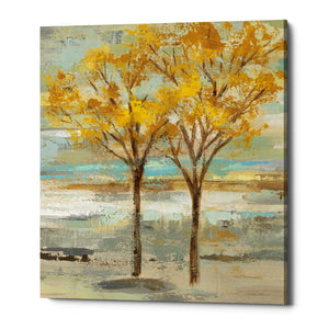 "Epic Graffiti ""Golden Tree and Fog II"" by Silvia Vassileva, Giclee Canvas Wall Art"