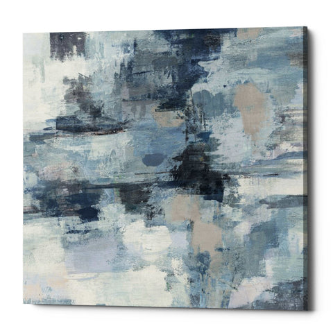 "Epic Graffiti ""In The Clouds Indigo and Gray Crop"" by Silvia Vassileva, Giclee Canvas Wall Art"