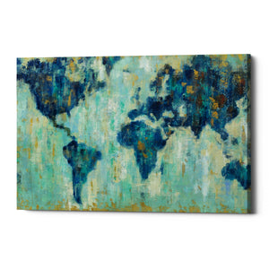 "Epic Graffiti ""Map Of The World"" by Silvia Vassileva, Giclee Canvas Wall Art"